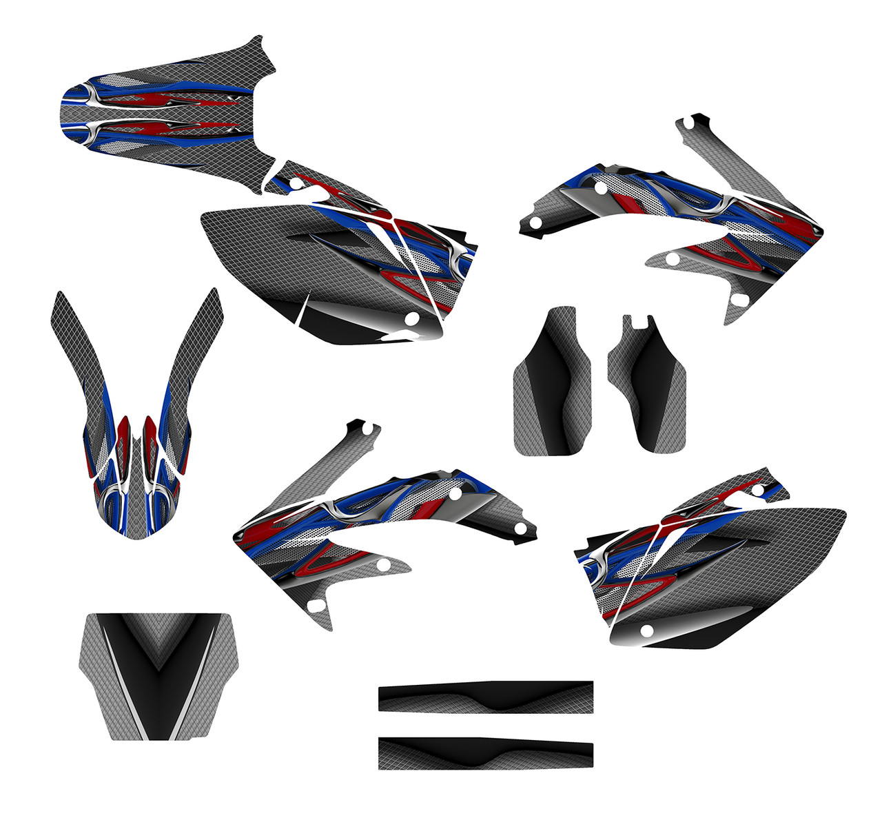 Custom graphics sticker kit for 2008 CRF450R dirt bikes