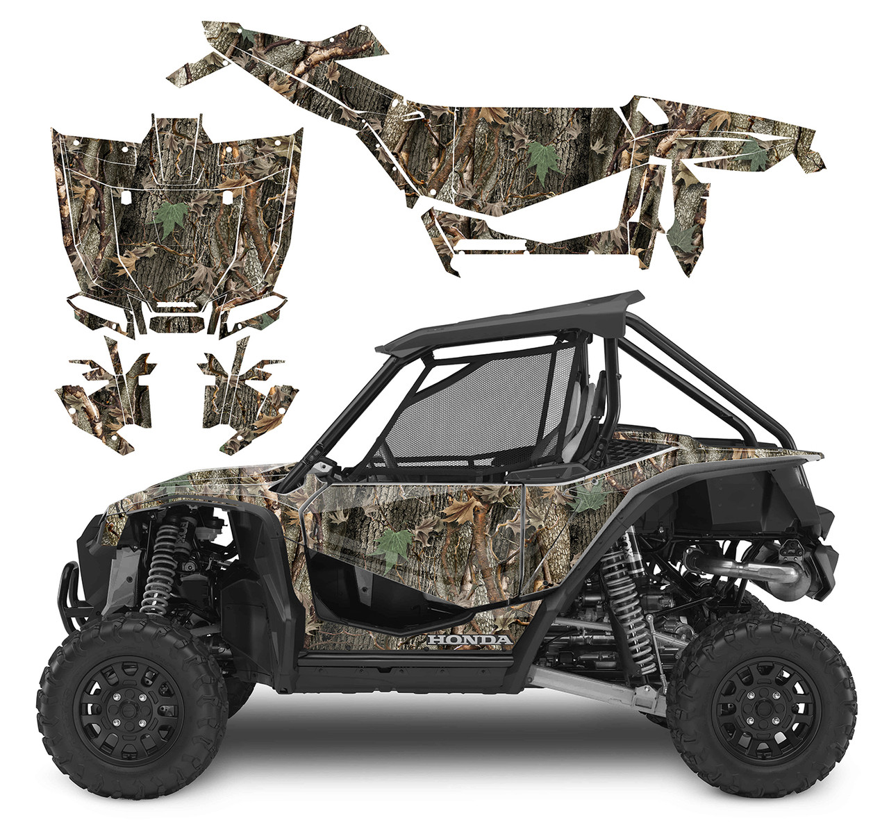 Ambushed Camo wrap kit for Honda Talon 1000