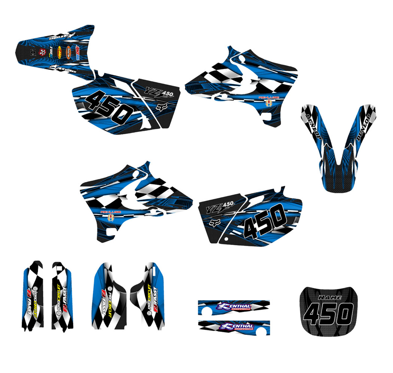 2003-2005 Yamaha Custom YZ250F and YZ450F graphics kit