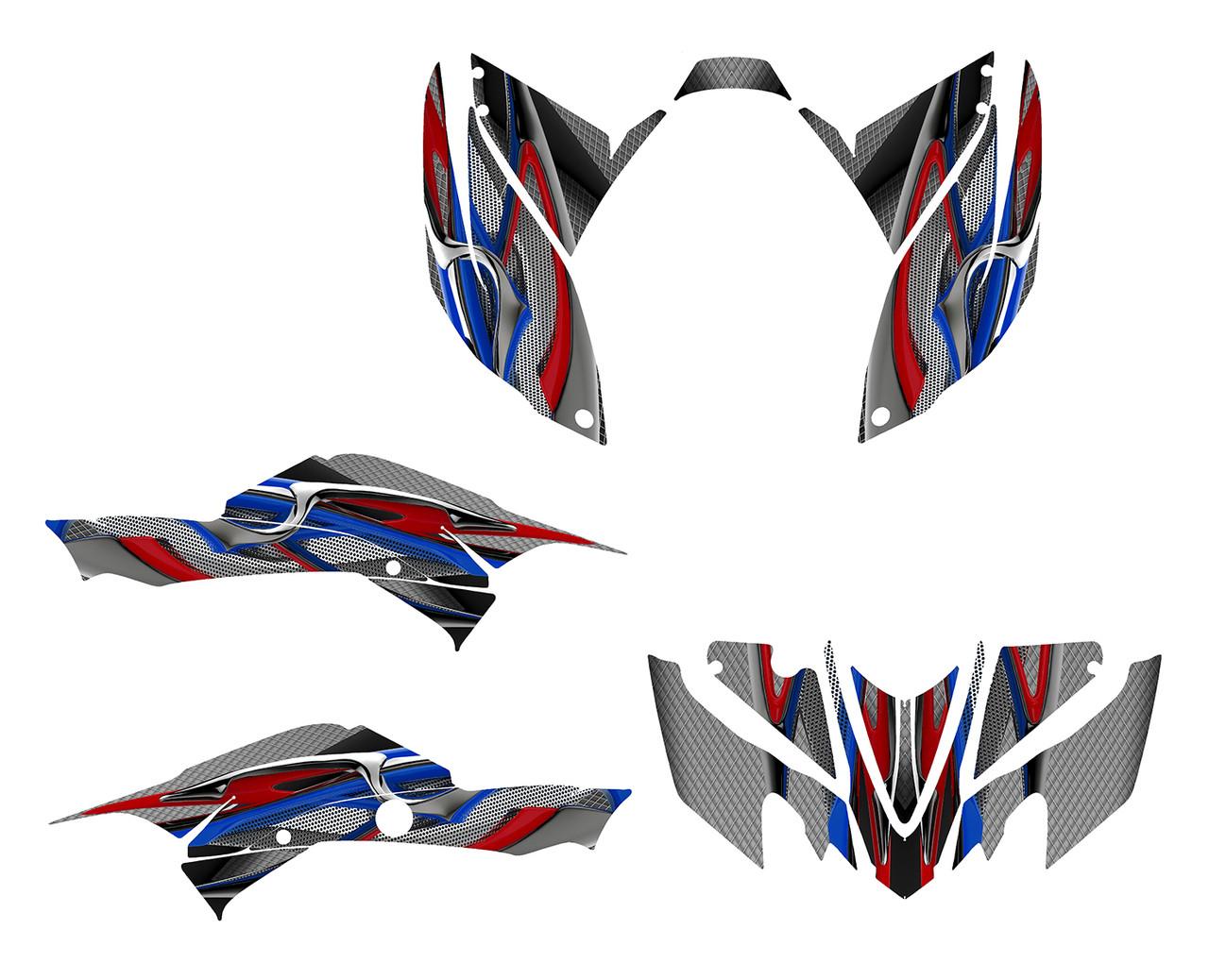 Honda TRX400ex custom graphics wrap kit