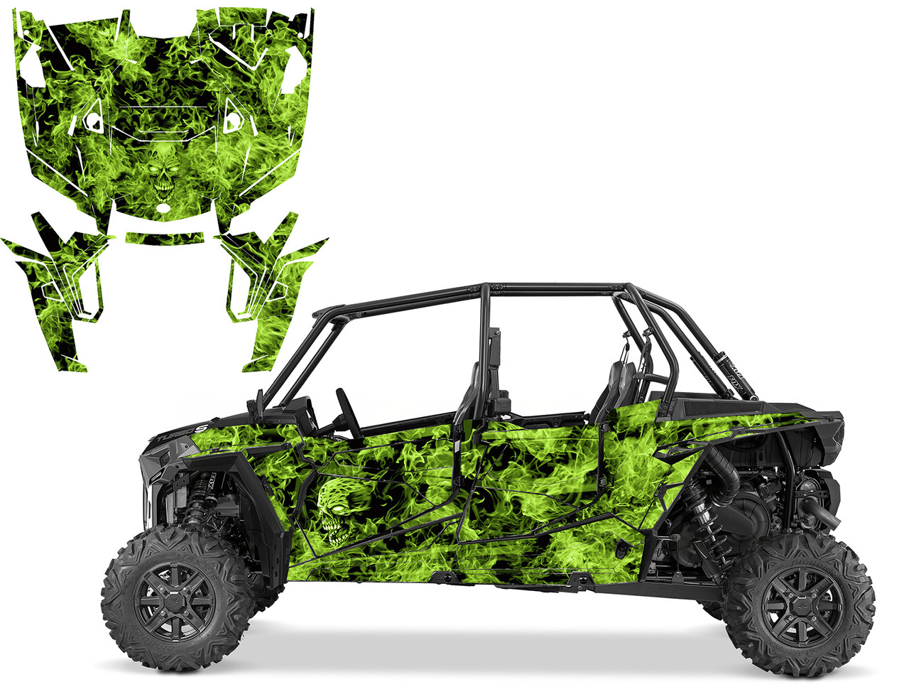 2019 RZR4 graphics wrap kit with Zombie