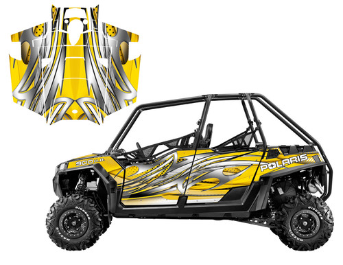 2011-2014 Polaris RZR XP4 900 graphics wrap kit