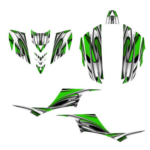 Kawasaki KFX 700 graphics kit by Allmotorgraphics