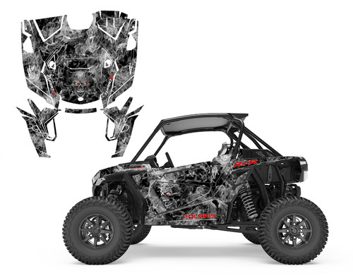 Zombie Skull utv wrap kit for your RZR Turbo S