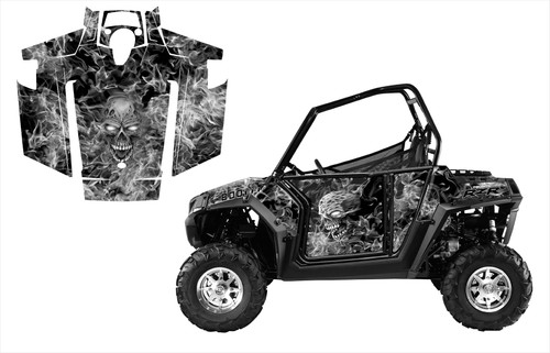 Check out our perfect fitting Polaris RZR 800 wrap graphics kit