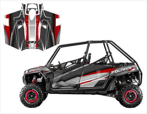 2011 RZR xp4 900 graphic kit guranteed to fit your Razor