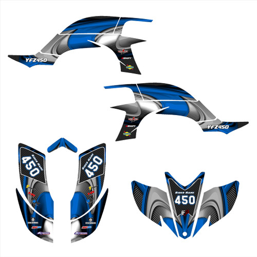 graphics kit for YFZ 450 Carburated model.