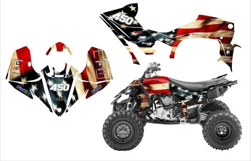 YFZ450R 2014-19 American Tattered Flag