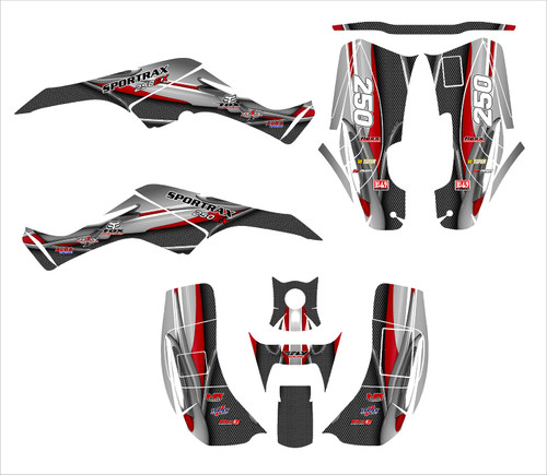 2001 2002 2003 2004 TRX 250X 250EX graphics designed by allmotorgraphics