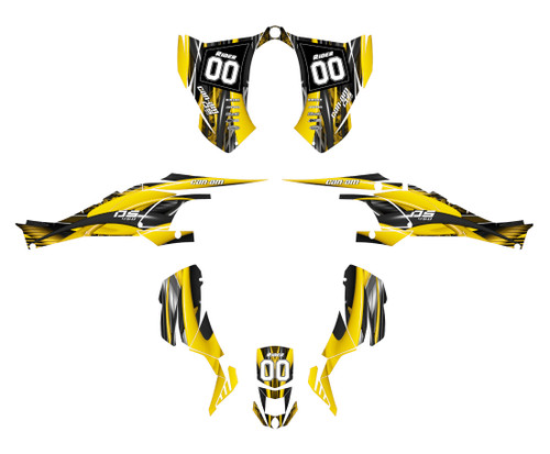 Can am DS 450 graphics decal kit designed by All Motor Graphics
