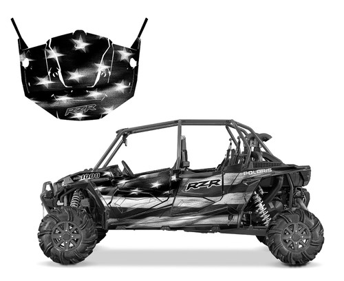 RZR4-1000 4-SEATER 2015-2018 American Flag Tattered