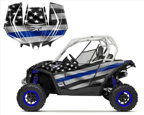 Can am RENEGADE X Graphics Kit 2nd Gen Chassis Full Coverage Digital Camo Blue