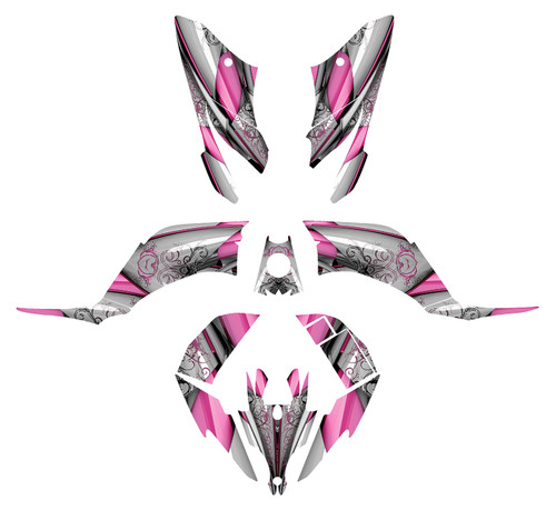 Raptor 250 graphic kit design for girls.