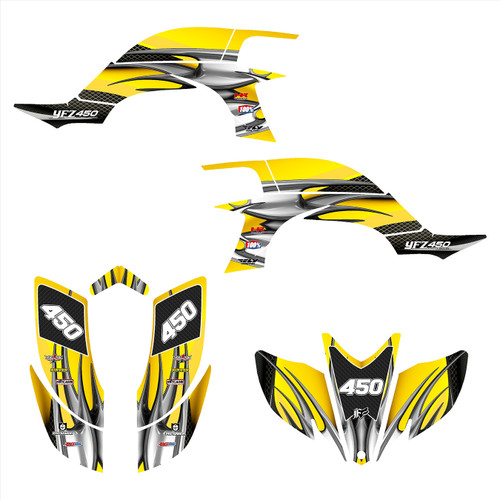 2003 Yamaha YFZ 450 graphics decal kit