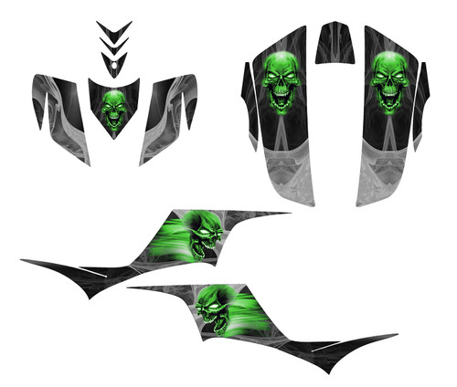 kfx700 graphics decal wrap kit by All Motor Graphics Company