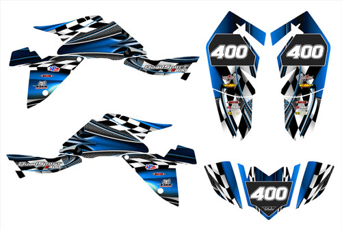 2009 LTZ400 graphics decal kit by All Motor Graphics