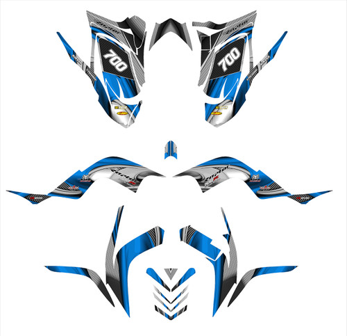 RAPTOR 700 graphics decal kit by allmotorgraphics