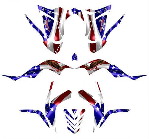 American Eagle Flag Theme Raptor 700 graphics