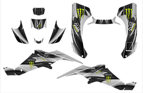 Suzuki LT-Z400 Monster Energy and Fox Racing graphics