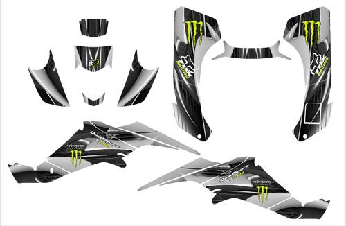 Suzuki LT-Z400 Monster Energy and Fox Racing graphics