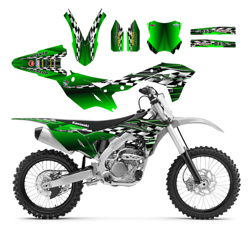 2014 -2019 KX250F graphics kit by allmotorgraphics