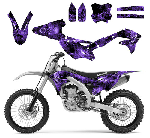 Purple Zombie graphics for Kawasaki KX450F