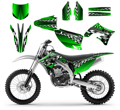 2009 kx450f graphics kit for kawasaki 4-stroke dirt bike