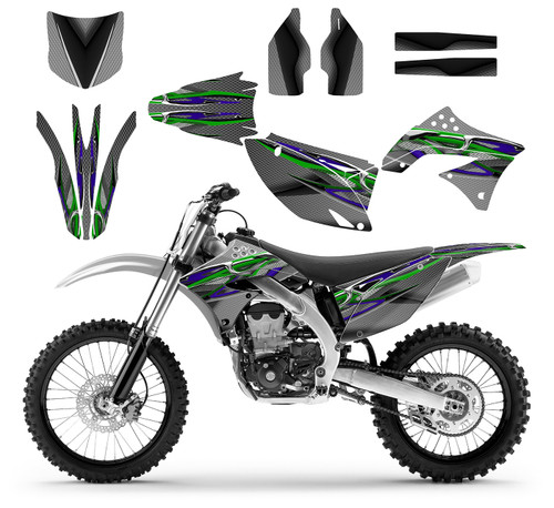 KX450F graphic kit fits  2009-2011 Kawasaki mx bikes
