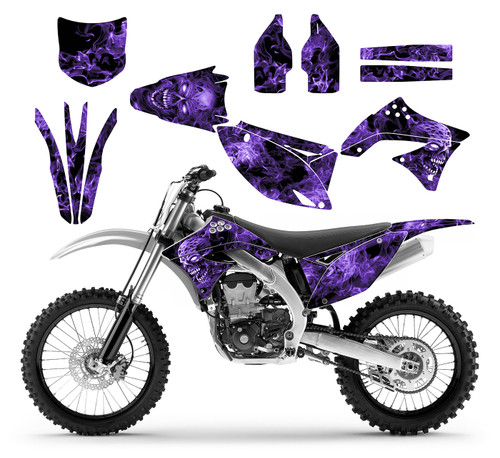 Thick, durable, pliable decal kit for 2009 KX450F