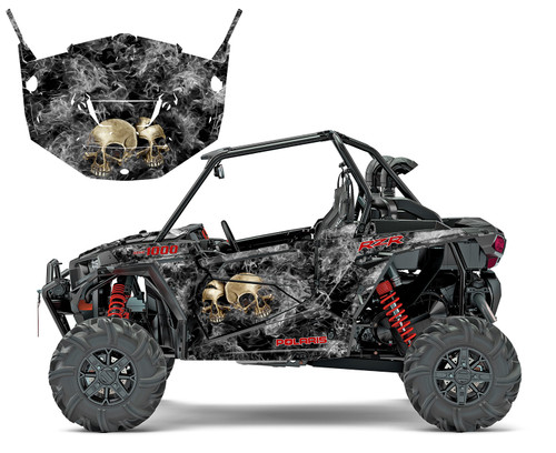 His and Her Skull graphics wrap kit for RZR 1000