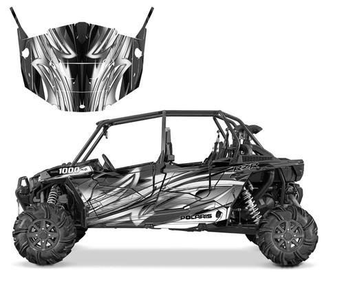 2016 RZR XP4 graphic wrap kit with matching afer-market door