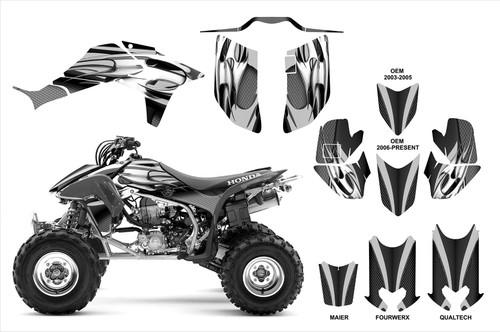 Honda TRX 450r graphics kit with Qualtech, Maier, Fourwerx & OEM hood option