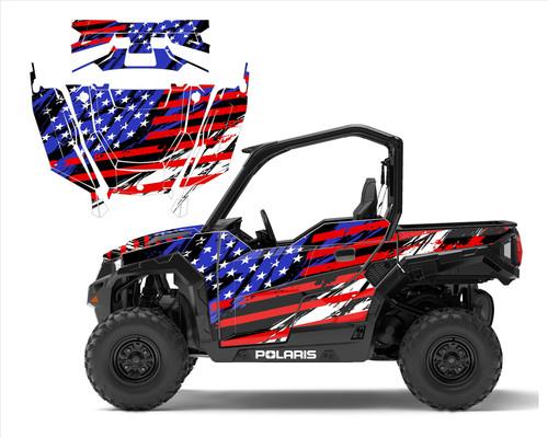 American Flag wrap for Polaris General