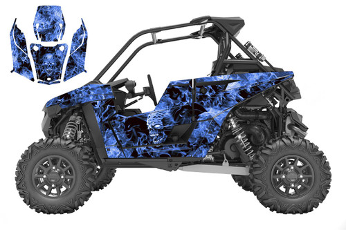 Polaris RS1 Zombie graphic kit in blue