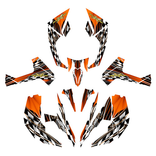 2009 Can am Renegade 800R wrap kit in orange