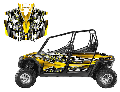 2012 RZR4 800 graphics wrap kit