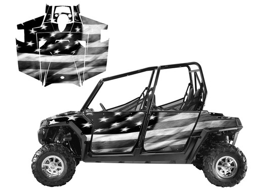 RZR4-800 4-SEATER 2011-2014 Tattered US Flag