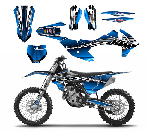Blue 2016 KTM sxf custom sticker graphic kit