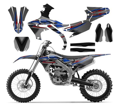 2016 2017 KX 450F KXF 450 Graphics Dirt Bike Decal kit #9500 Green Zombie Skull