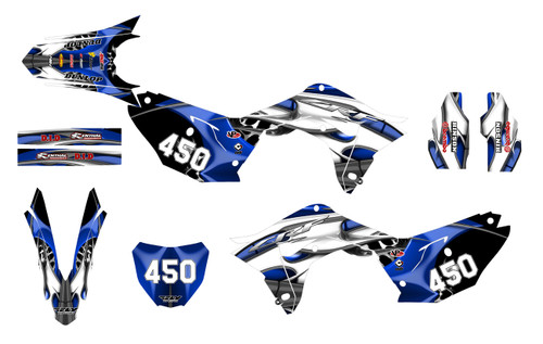 2020 Blue Tribal CRF250R graphics sticker kit