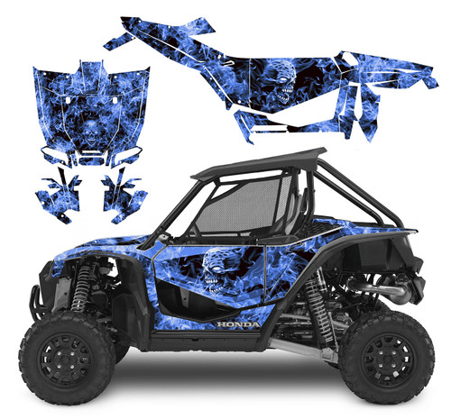 Honda Talon graphics wrap kit with Blue Zombie design