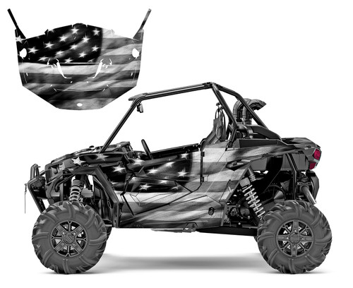 RZR-1000 2014-18 American Flag Tattered