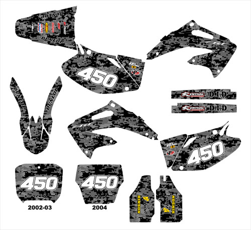 CRF450R 2002-04 Digital Camo