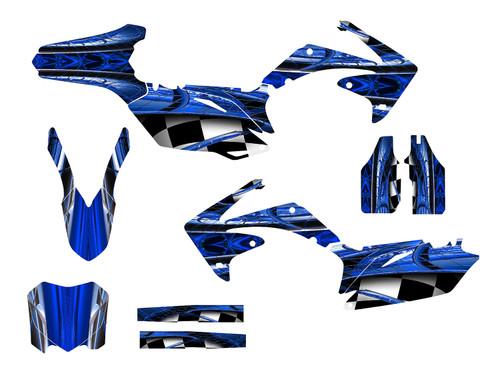 Blue Honda CRF450r custom graphics sticker kit for 2009-2012