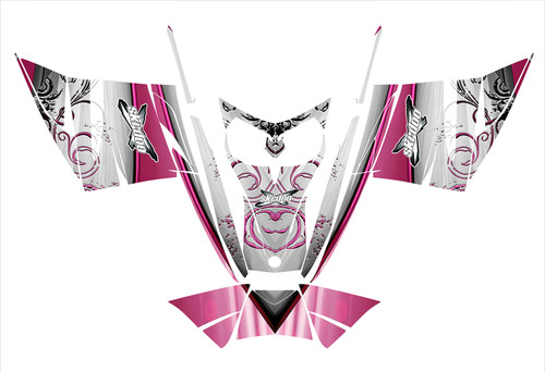 Pink Skidoo Rev MXZ Adrenaline graphics for 2004-2007 snowmobiles