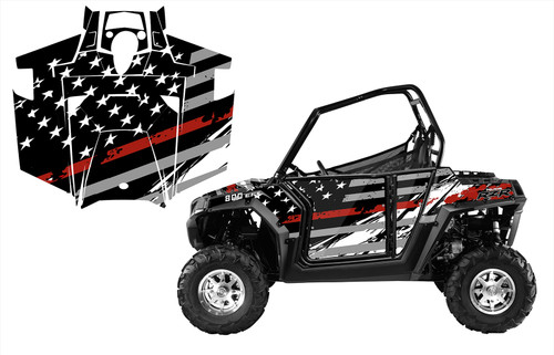 RZR 800 800S 2011-14 American Flag Racing Stripes