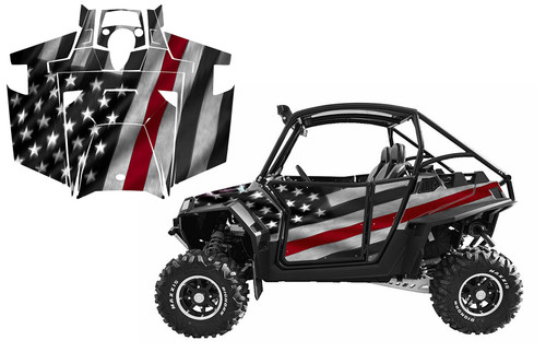 Thin Red Line UTV wrap graphics for Polaris RZR900xp