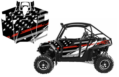 RZR 900XP 2011-14 American Flag Racing Stripes