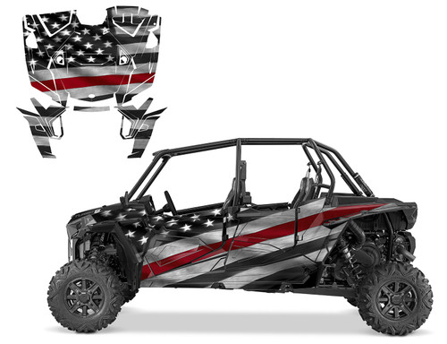Thin Red Line UTV wrap graphics for 2019 RZR XP4 1000