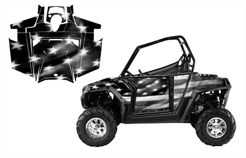 RZR 800 800S 2011-14 American Flag Tattered